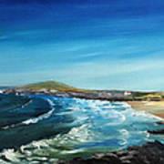 Fistral Bay Cornwall Art Print