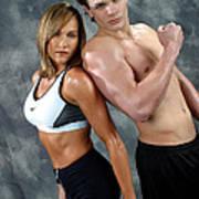 Fitness Couple 43 Art Print