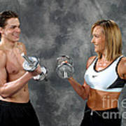 Fitness Couple 9 Art Print