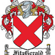Fitzgerald Coat Of Arms Irish Art Print
