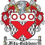 Fitzgibbon Coat Of Arms Irish Art Print