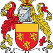 Fitzhenry Coat Of Arms Irish Art Print