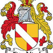Fitznicol Coat Of Arms Irish Art Print