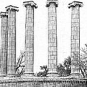 Five Columns Sketchy Art Print