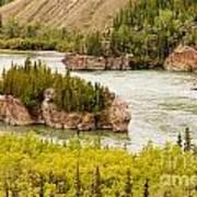 Five Finger Rapids Of Yukon River Yukon T Canada Art Print