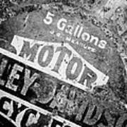 Five Gallon Motorcycle Oil Can Art Print