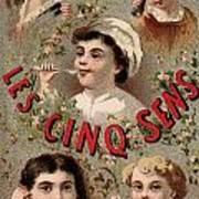 Five Senses Represented By Five Children C1900 Art Print