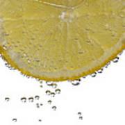 Fizzy Lemon Art Print