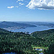 Fjord View Art Print