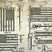 1927 Flag Spreader Patent Drawing Art Print