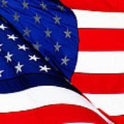 Flag Mirror Art Print