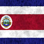 Flag Of Costa Rica Art Print