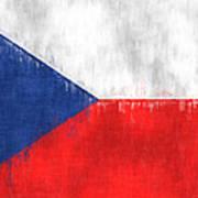 Flag Of Czech Republic Art Print