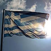 Flag Of Greece Art Print