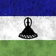 Flag Of Lesotho Art Print