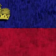 Flag Of Liechtenstein Art Print