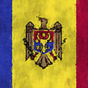 Flag Of Moldavia Art Print