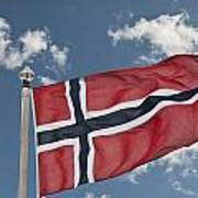 Flag Of Norway Art Print
