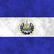 Flag Of Salvador Art Print