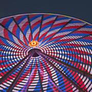 Flag Wheel Art Print