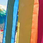 Flags In Provincetown Art Print