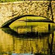 flagstone walking bridge at Freedom Park in Charlotte North Car Art Print