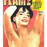 Flame - Vintage Magazines Covers Series Art Print