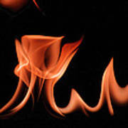 Flame With Images Art Print