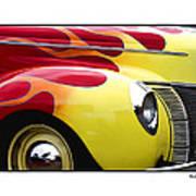 Flamed Ford Art Print