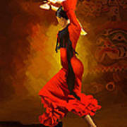 Flamenco Dancer 0013 Art Print