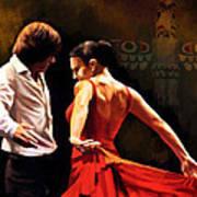 Flamenco Dancer 012 Art Print