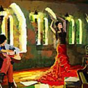 Flamenco Dancer 017 Art Print