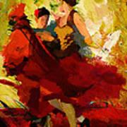 Flamenco Dancer 019 Art Print by Catf