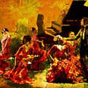 Flamenco Dancer 020 Art Print