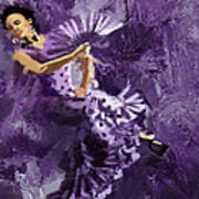 Flamenco Dancer 023 Art Print