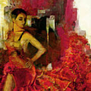 Flamenco Dancer 024 Art Print