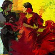 Flamenco Dancer 025 Art Print by Catf