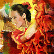 Flamenco Dancer 027 Art Print by Catf