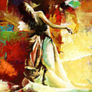 Flamenco Dancer 032 Art Print by Catf