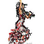 Flamenco Series #12 Art Print