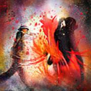 Flamencoscape 07 Art Print