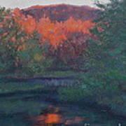 Flames Of Fall At Catfish Corner Art Print
