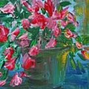 Flaming Pink Flowers Art Print