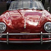 Flaming Red Porsche Art Print