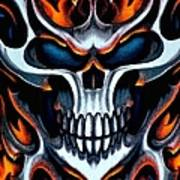 Flaming Skull Art Print