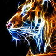 Flaming Tiger Art Print