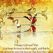 Flamingo In Yellow Art Print