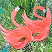 Flamingo Mask 1 Art Print