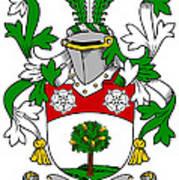 Flannery Coat Of Arms Irish Art Print