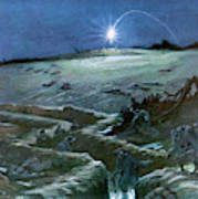 Flares Illuminate The Desolate Art Print